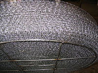 Detail-Rolled-Wire-Mesh-Pad-with-Lightweight-Bottom-Grid